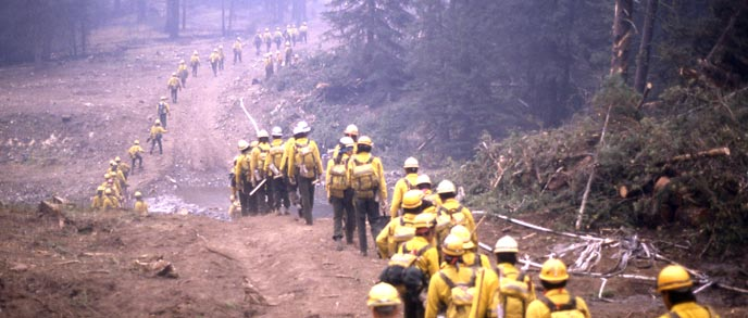 Yellowstone fire - firefighters