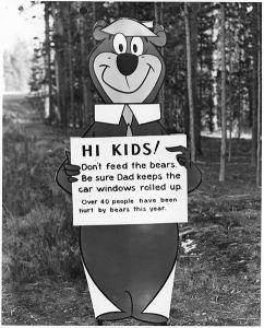 Yogi Bear sign
