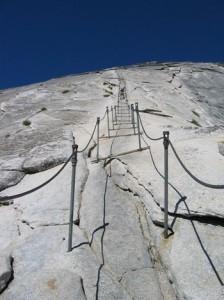 Half Dome - cables