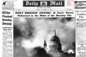 St Pauls - Blitz bombing newspaper