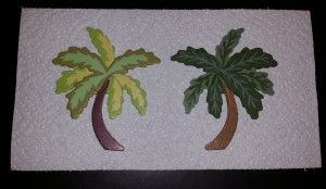 painted palm trees