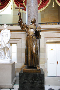 Father Serra statue in the US Capitol