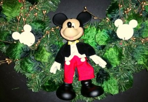 Mickey Mouse wreath - closeup