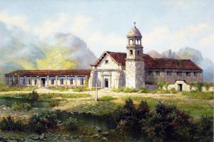 Mission Santa Cruz - painting