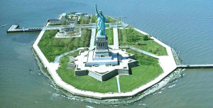 Statue of Liberty - aerial