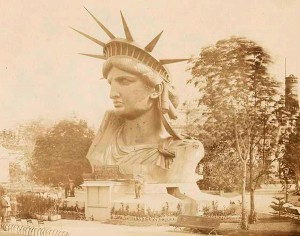 Statue of Liberty - head displayed at the Paris Worlds Fair 1878