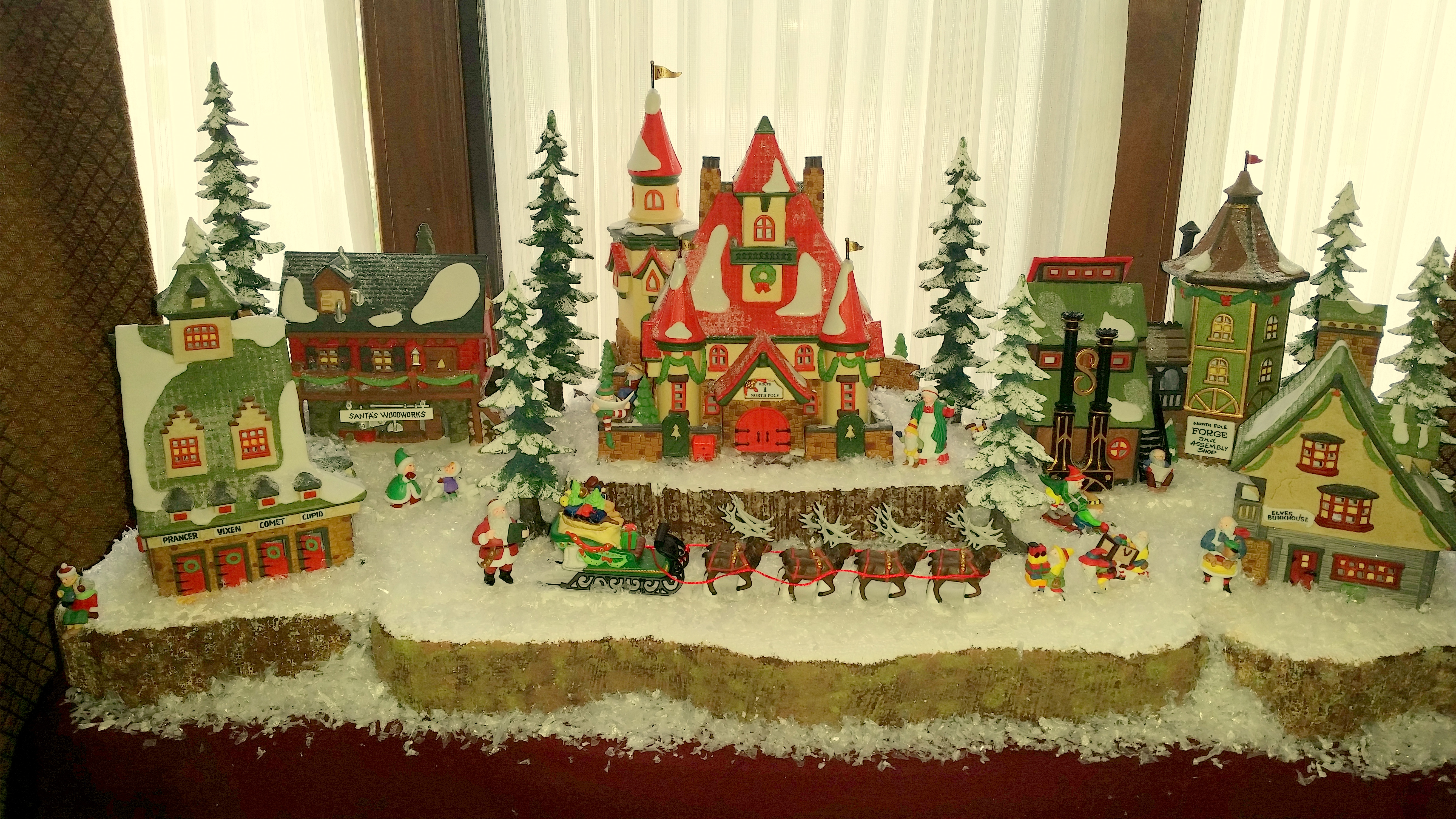 setting up a Department 56 North Pole Village | The Enchanted Manor