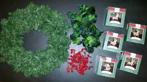 Hallmark Santa sleigh and reindeer ornaments - supplies