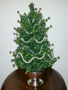 Jeweled Tabletop Christmas Tree 3