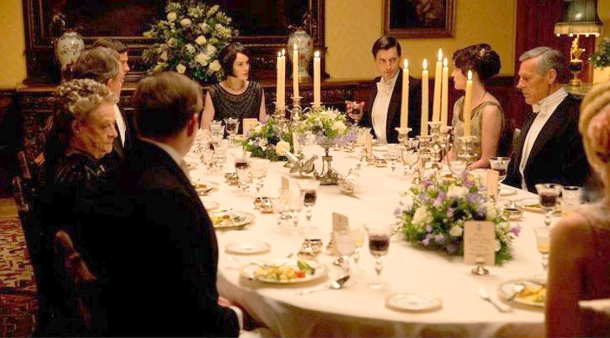 place setting for formal dinner in the downton abbey style | the