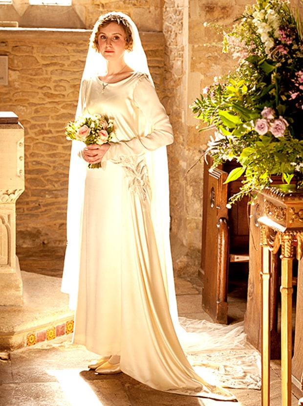 The wedding dress of lady mary downton abbey the Downton abbey style wedding dress