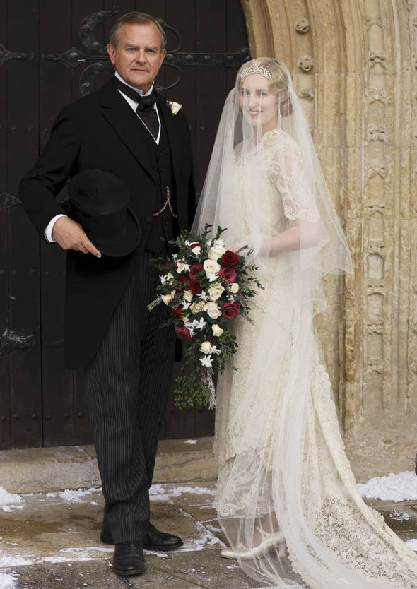 Lady Mary wedding dress Downton Abbey | The Enchanted Manor