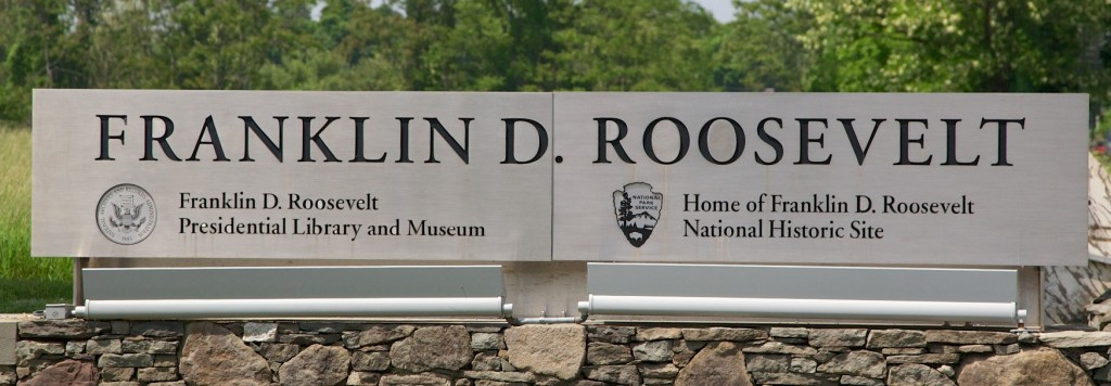 FDR National Historic Site sign