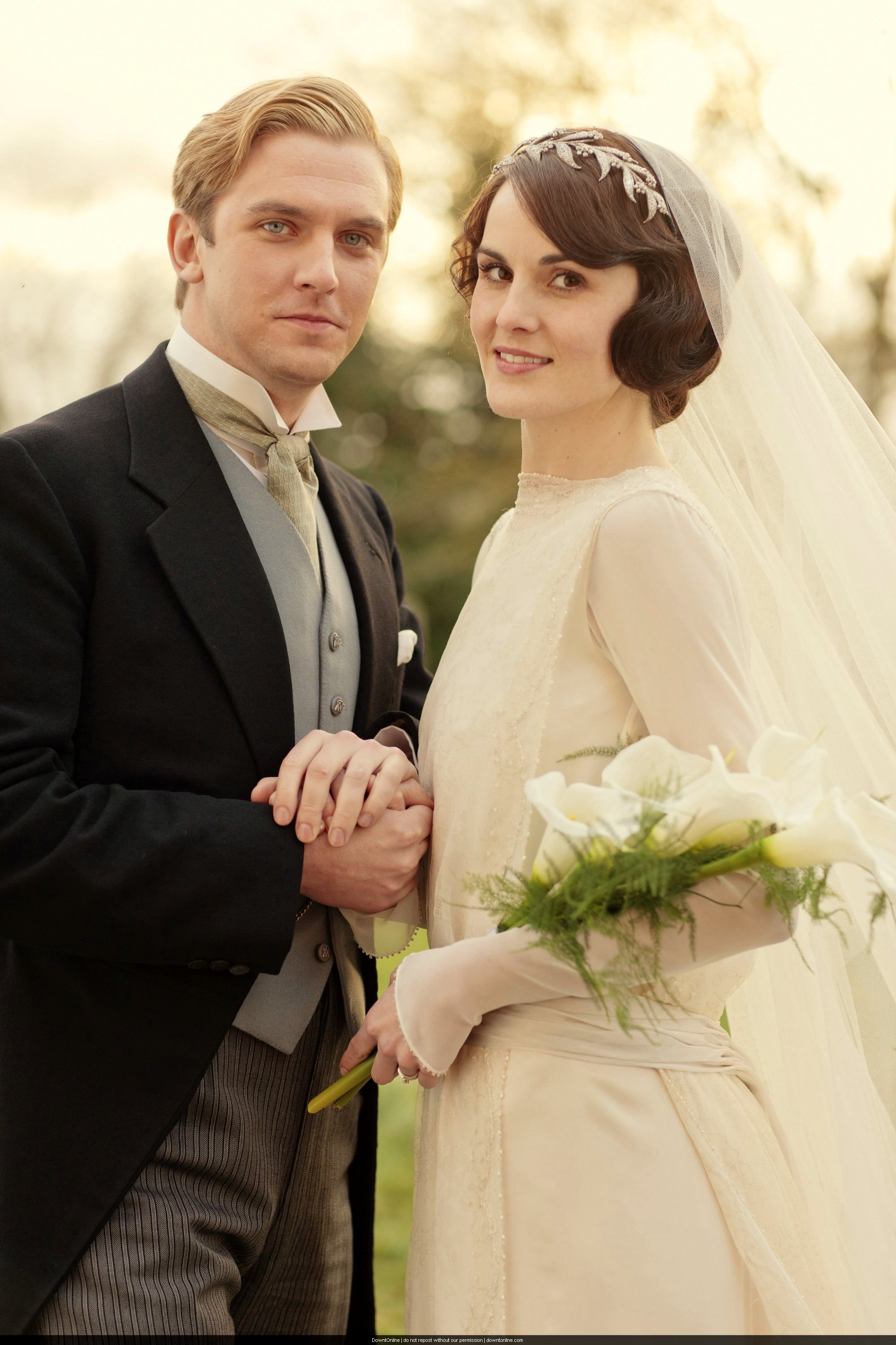 The Wedding Dress Of Lady Mary Downton Abbey The