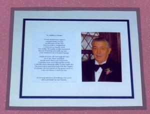 Framed memorial 1