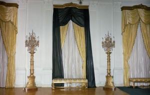 JFK funeral - White House interior draped in black 1