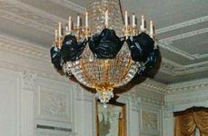 JFK funeral - White House interior draped in black 2