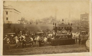 Lincoln funeral - carriage   White House to Capital