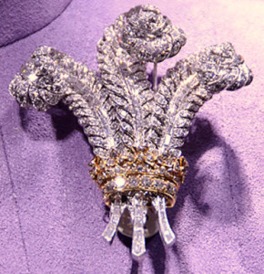 Prince of Wales feather brooch