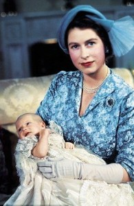 1950 -  Princess Elizabeth with Princess Anne at her christening 2