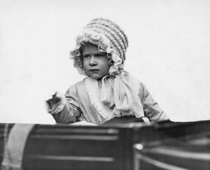 Princess Elizabeth in baby bonnet