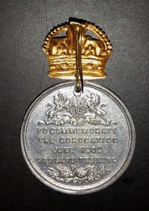 King Edward II - coronation medal back