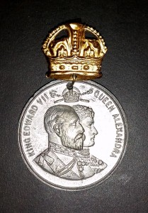 King Edward II - coronation medal front