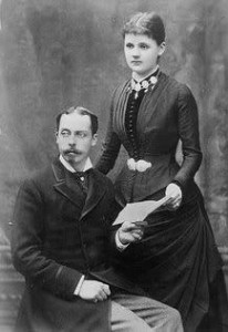 Prince Leopold and his wife