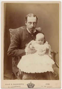 Prince Leopold - with his child