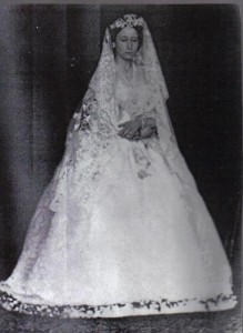 Princess Alice in her wedding dress