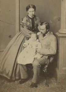 Princess Alice with husband and child