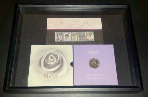 Princess Diana stamp and coin set
