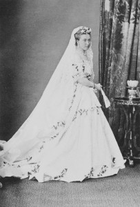 Princess Helene  in wedding dress