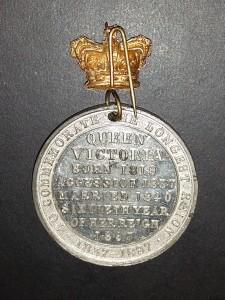 Queen Victoria - Jubilee medal back