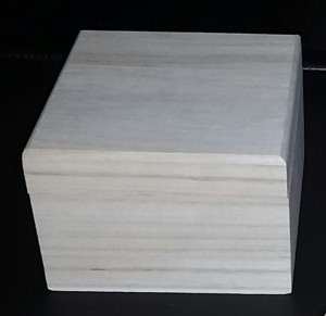 square wooden box - papered