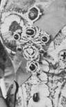 Delhi Durbar Stomacher wore with several brooches
