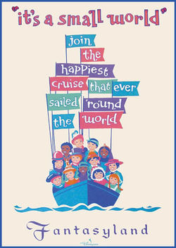 Its a small world song the enchanted manor its a small world poster publicscrutiny Images