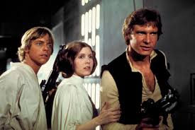 Luke, Leia and Hans Solo