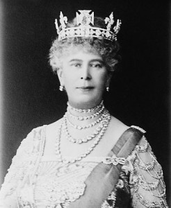Queen Mary - coronation crown worn as circlet