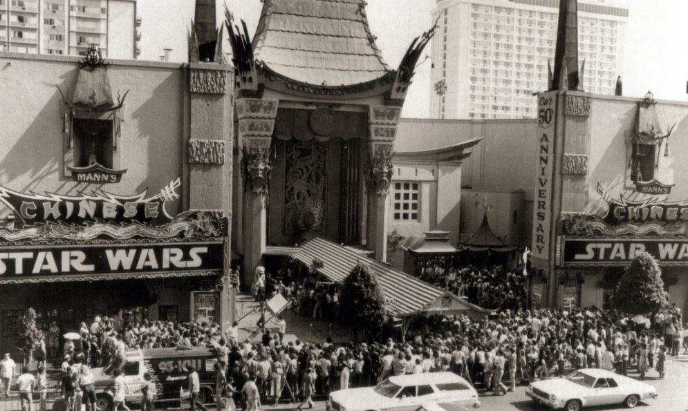 Image result for star wars movie premiere in 1977