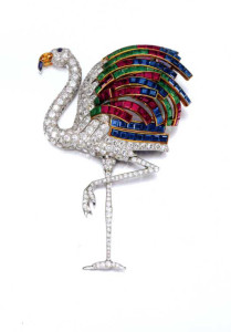Van Cleef Arpels Flamingo brooch
