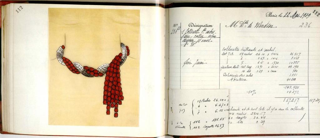 Van Cleef Arpels Ruby Necklace sketches