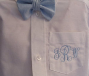 Boy shirt monogram 1