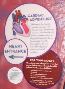 Cardiac Adventure sign