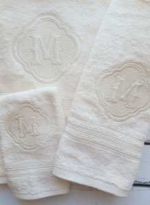 Towels monogram 1