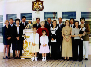 Britannia - Royal Family during the last Western Isles Tour in 1997