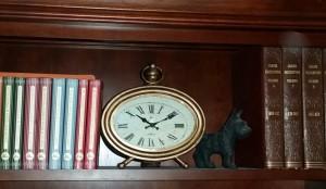 Original clock on shelf