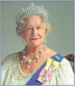 Queen Mother wearing Royal Family Orders